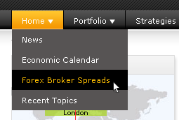 forex spread comparison live comparison of live spreads between forex ...