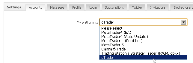 cTrader – Welcome Aboard! « The Myfxbook Blog